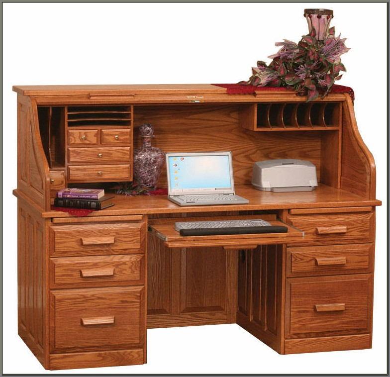 Winners Only Oak Roll Top Computer Desk
