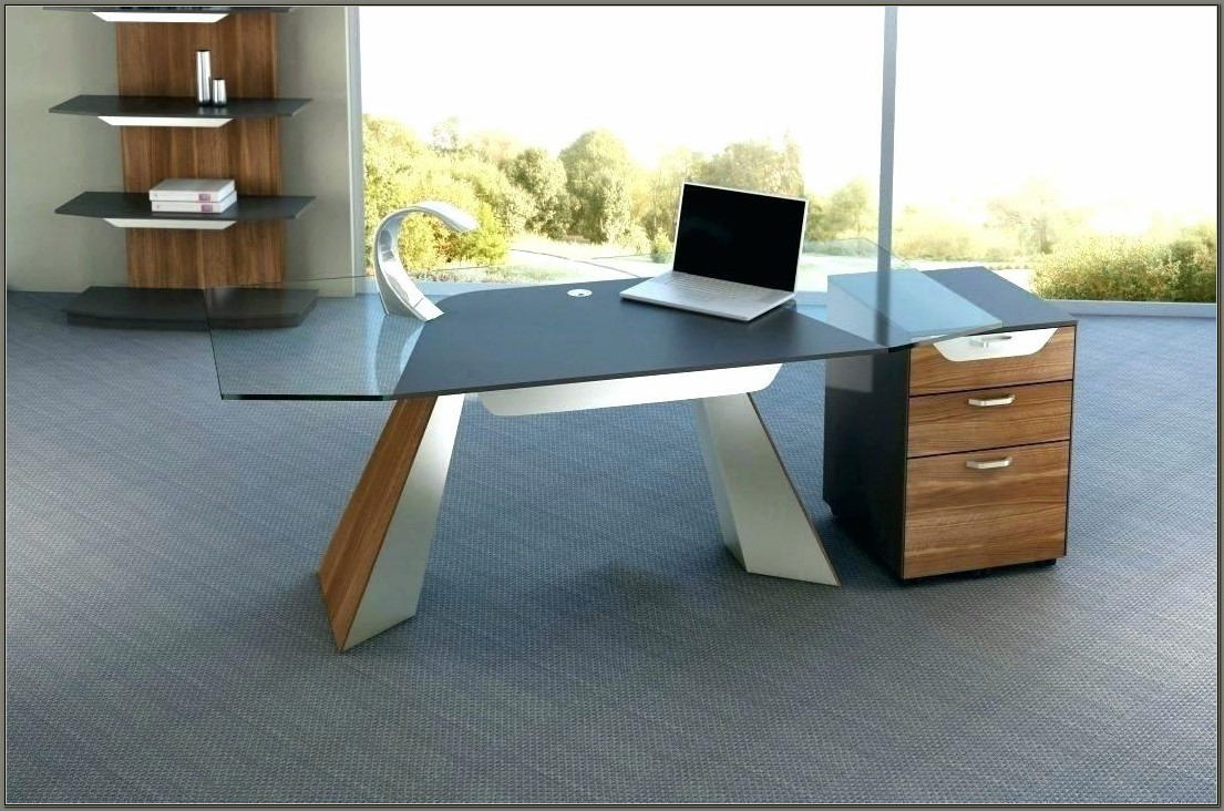 Wood And Glass Desks