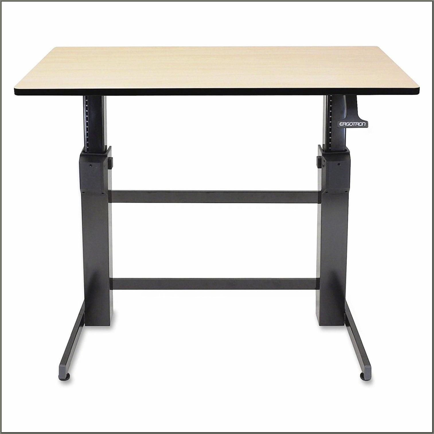 Workfit D Sit Stand Desk Walnut