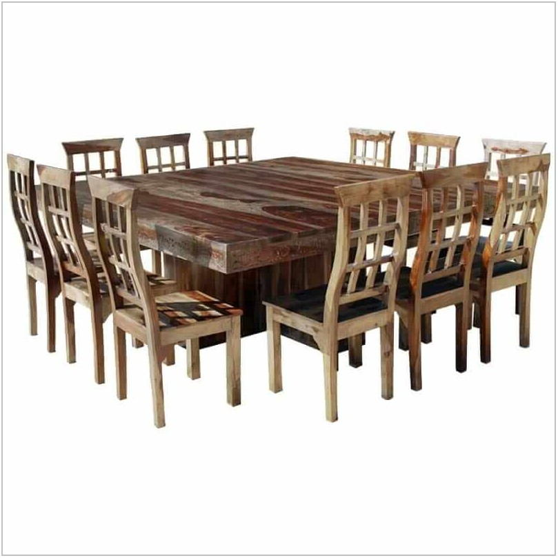 12 Chair Dining Room Table