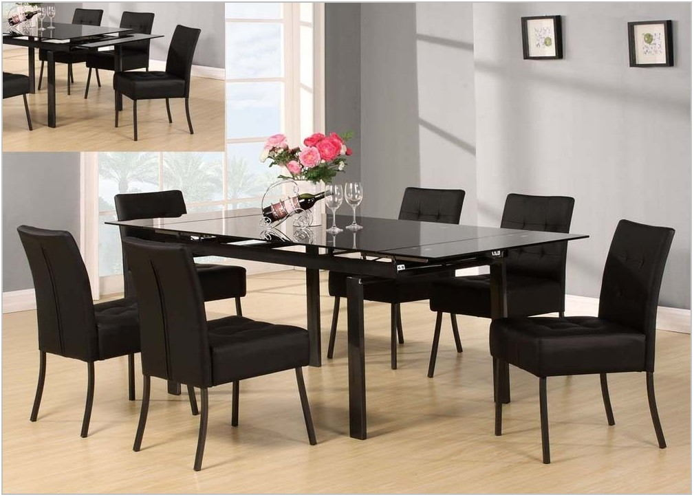 7 Piece Glass Dining Room Set
