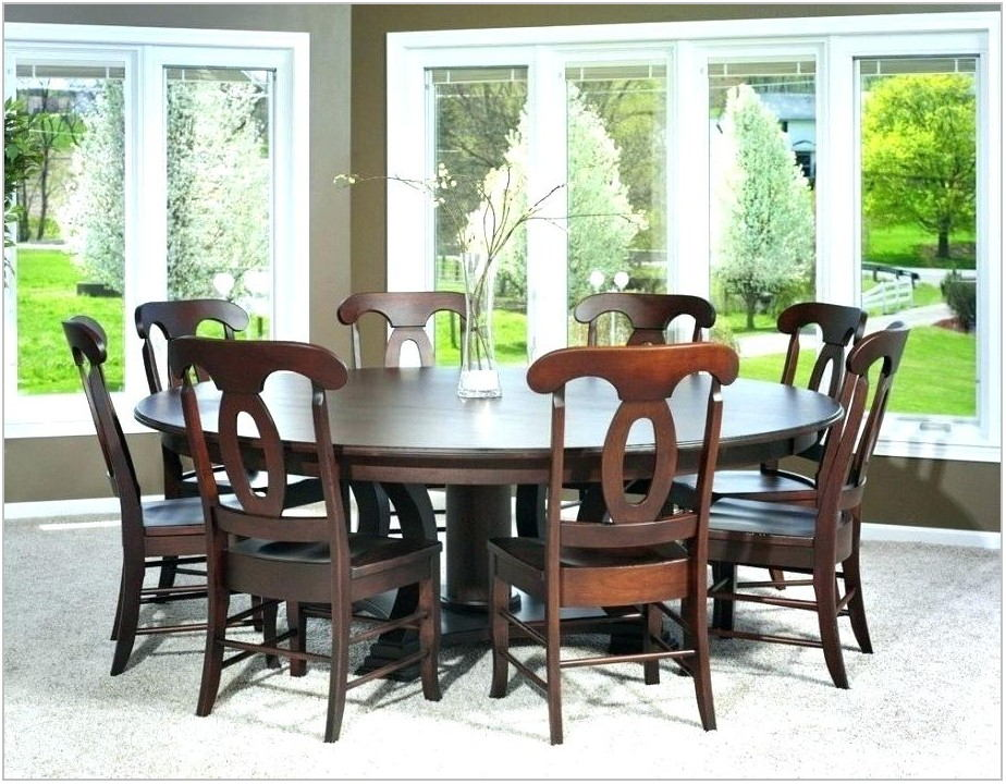 8 Chair Round Dining Room Table