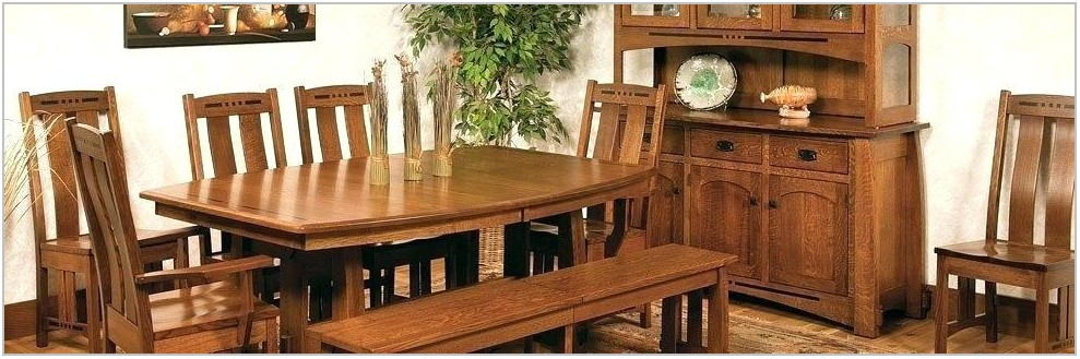 Amish Oak Dining Room Sets