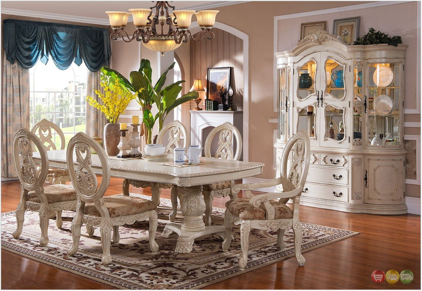Antique White Dining Room Furniture