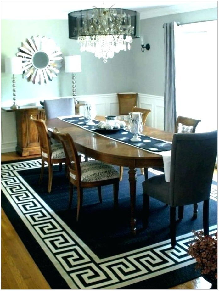 Average Size Rug For Dining Room