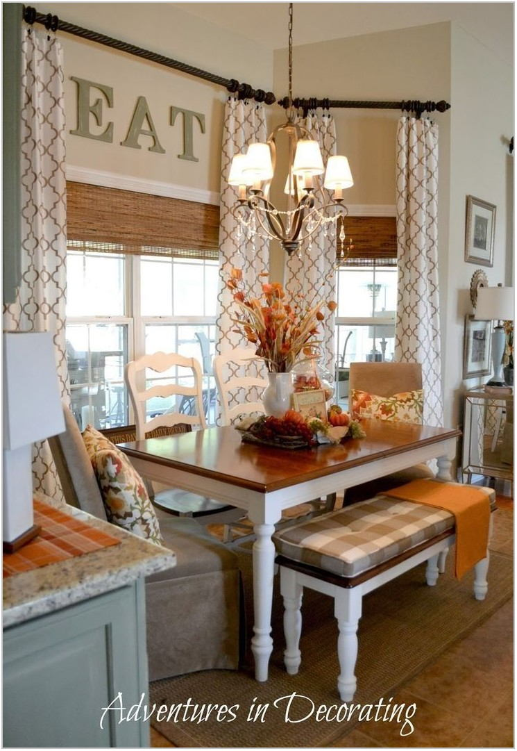 Bay Window Treatments For Dining Room