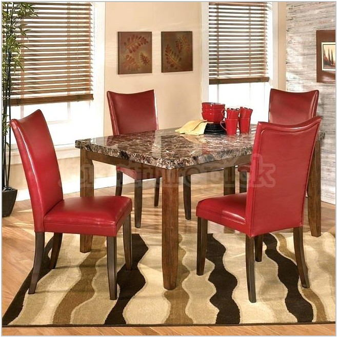 Black And Red Dining Room Set
