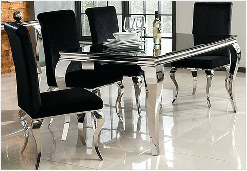 Black And Silver Dining Room Chairs