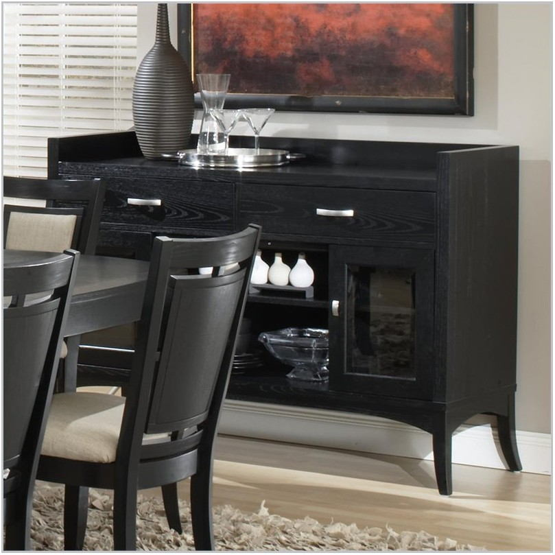 Black Dining Room Buffet Server