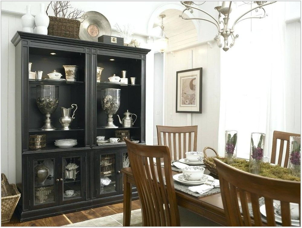 Black Dining Room Cabinet
