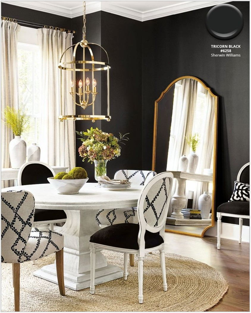 Black Dining Room Rug