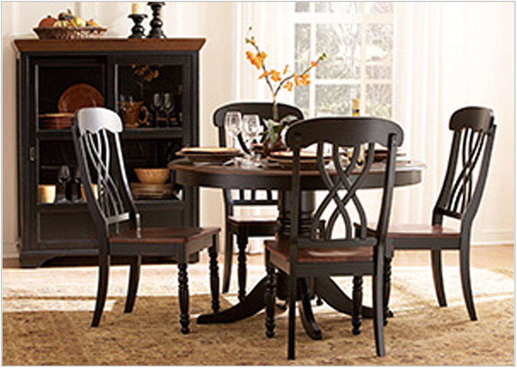 Black Dining Room Table Round