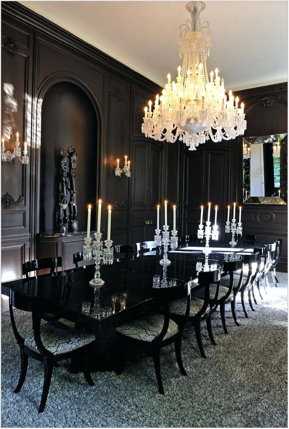 Black Formal Dining Room Table