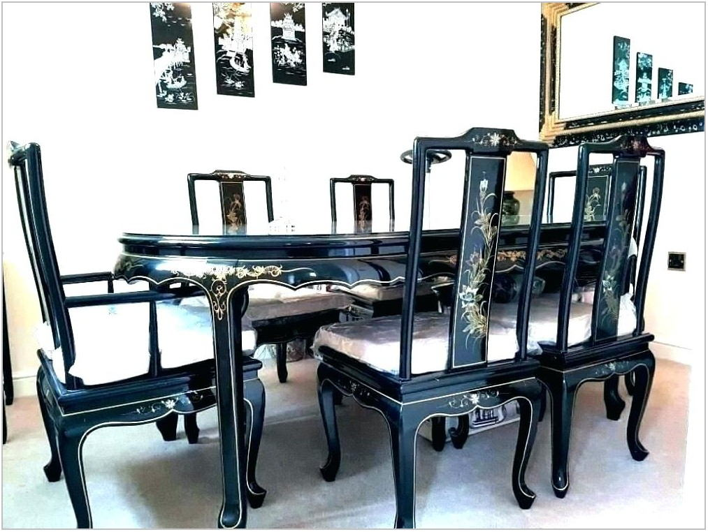 Black Lacquer Dining Room Set
