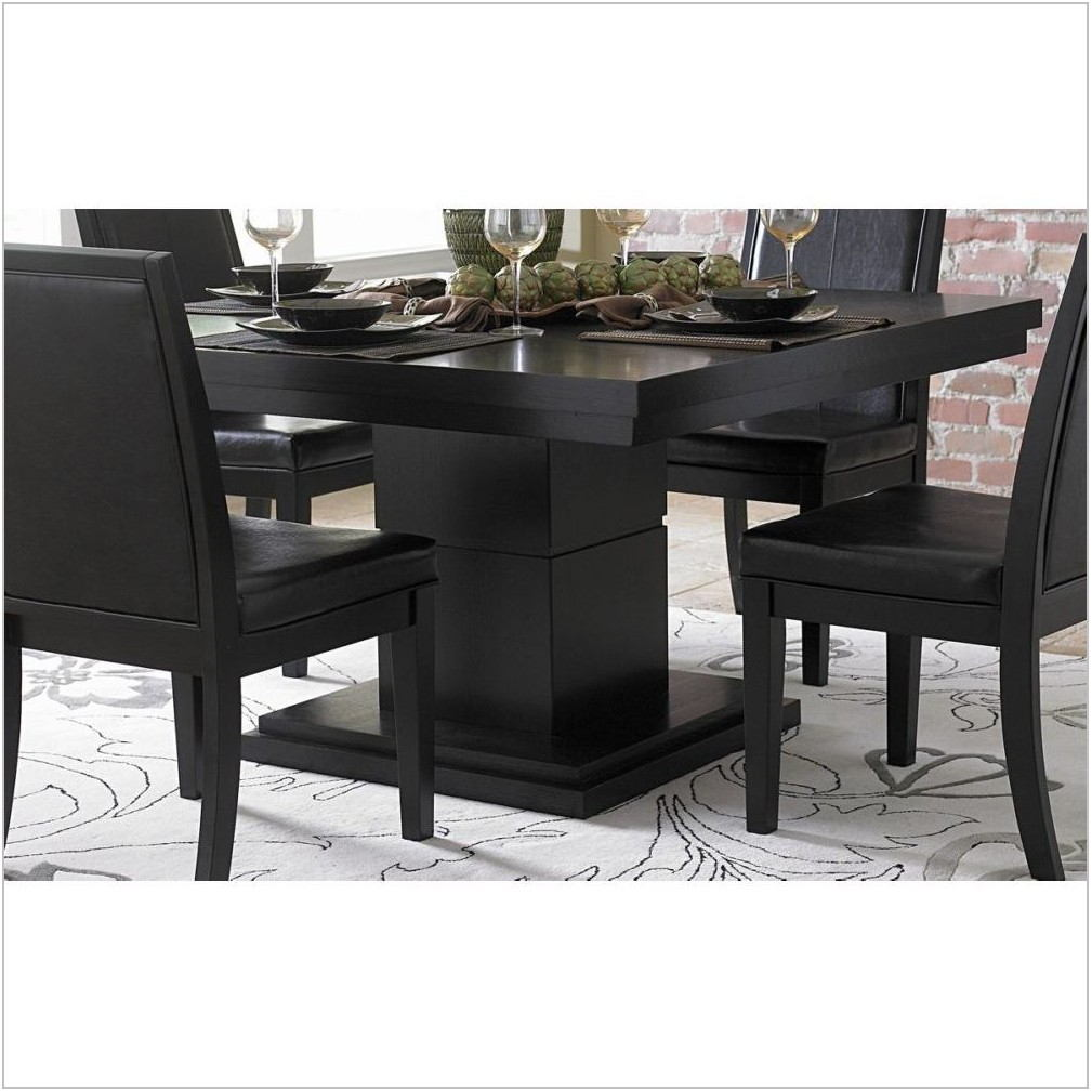 Black Square Dining Room Table