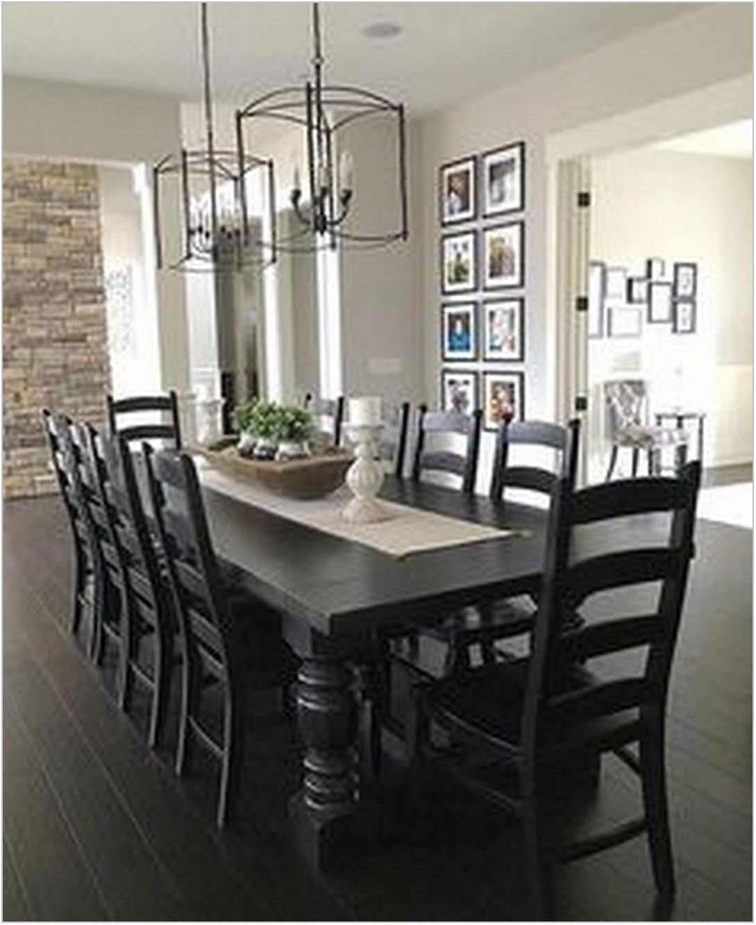 Black Table Dining Room
