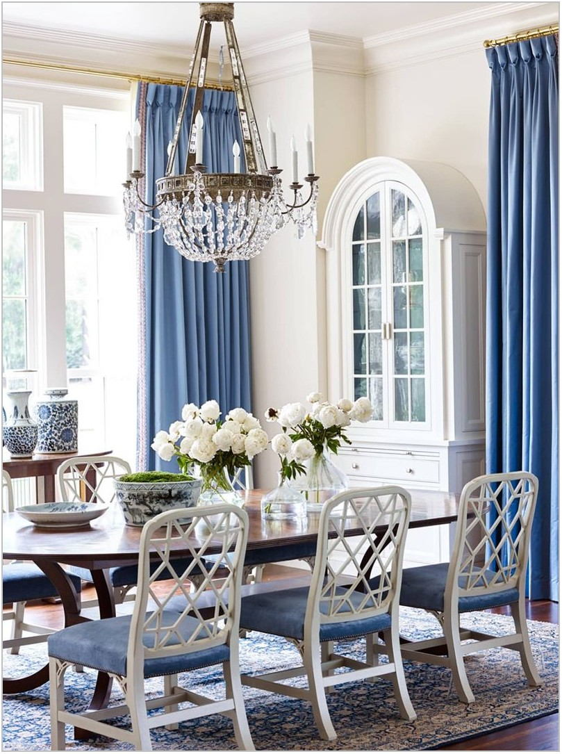 Blue And White Dining Room Chairs