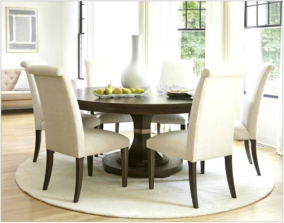 Blue Fabric Dining Room Chairs