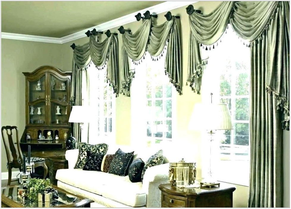 Blue Valances For Dining Room