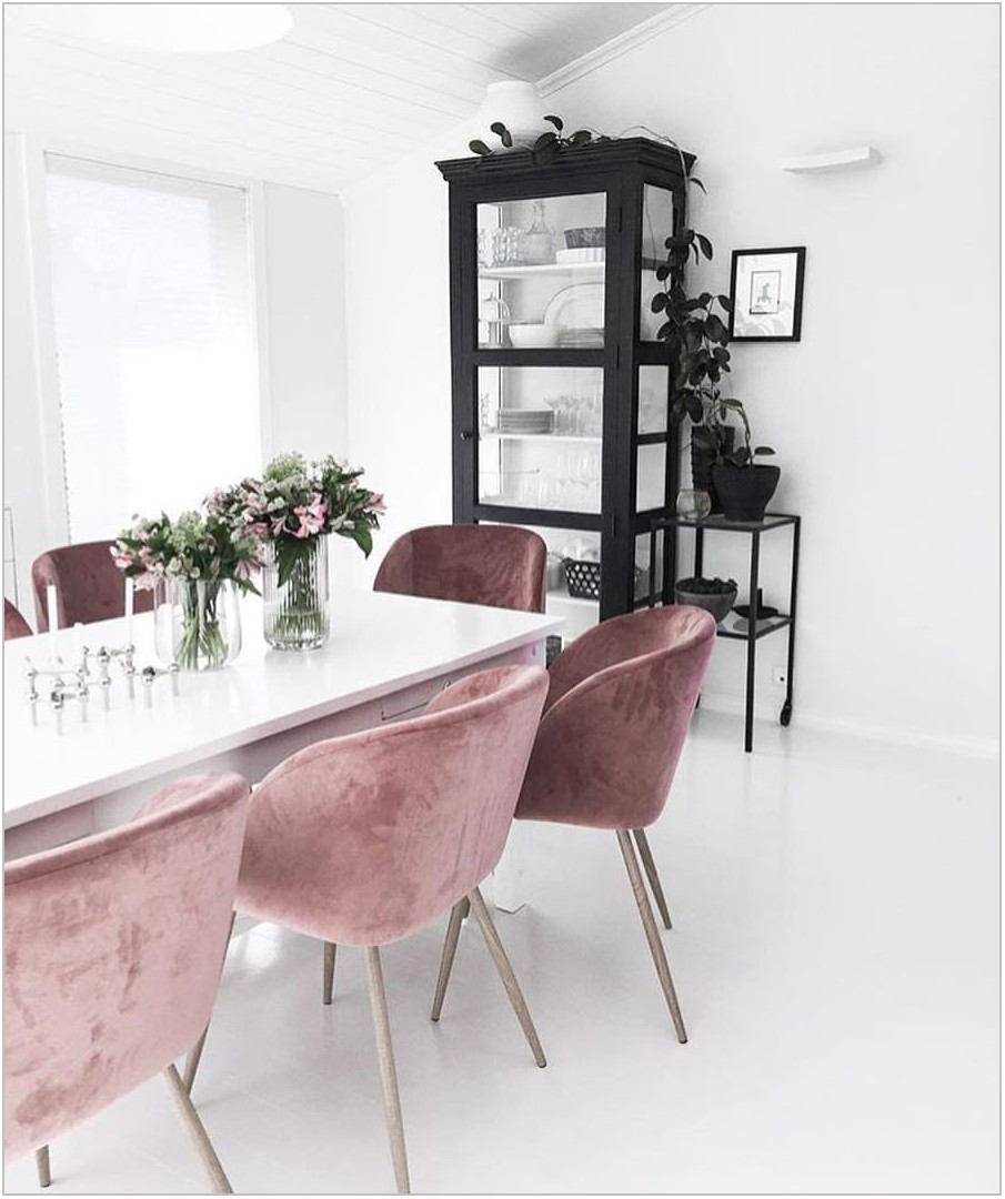 Blush Dining Room Chairs