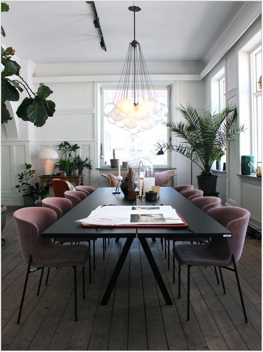 Blush Pink Dining Room Chairs