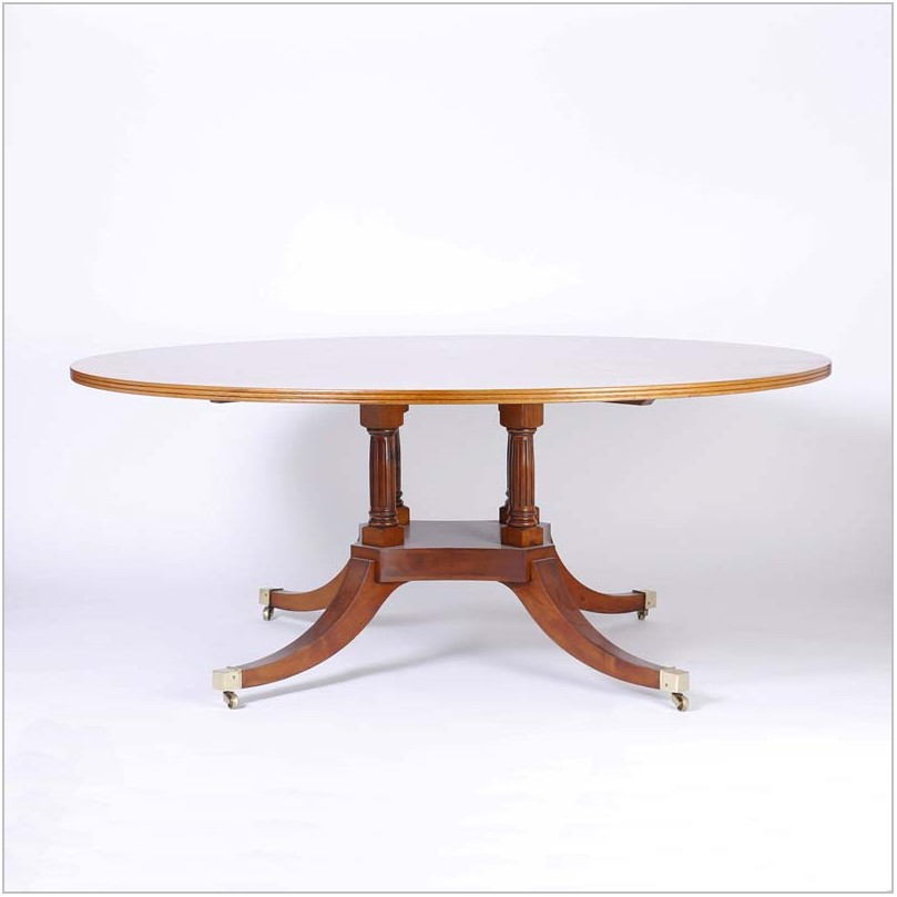 Burl Wood Dining Room Table