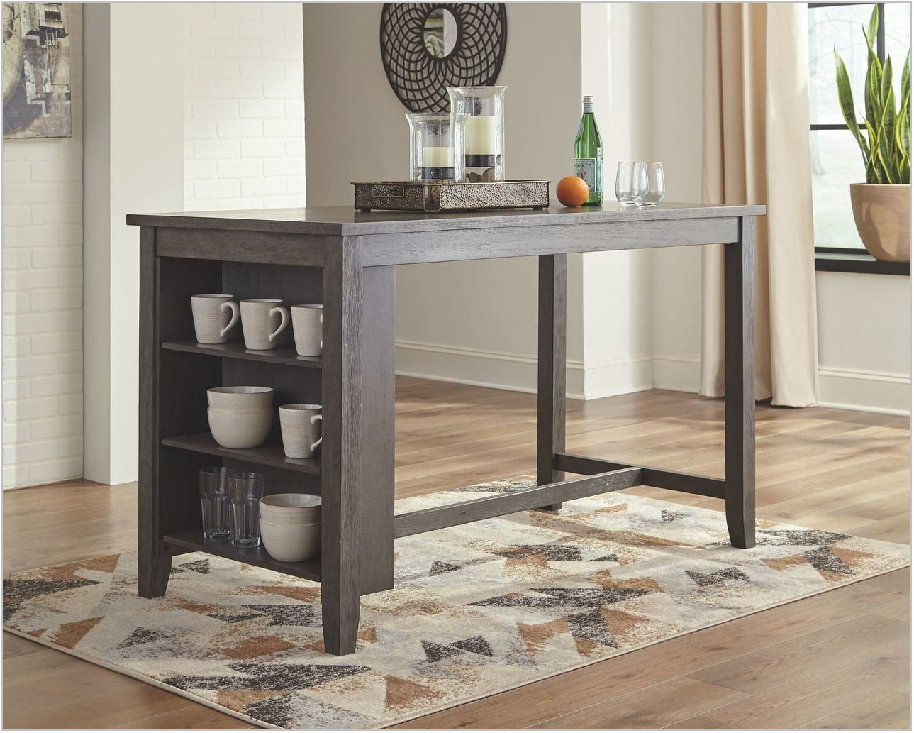 Caitbrook Rectangular Dining Room Counter Table