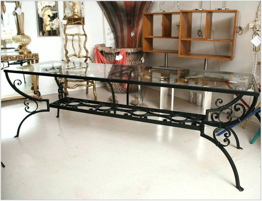 Cast Iron Dining Room Set