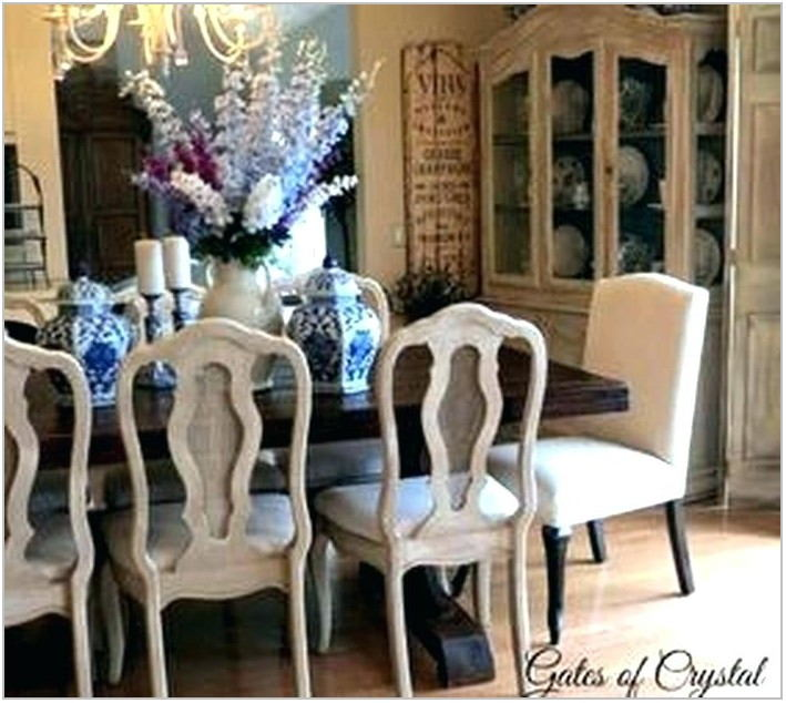 Chalk Painted Dining Room Furniture