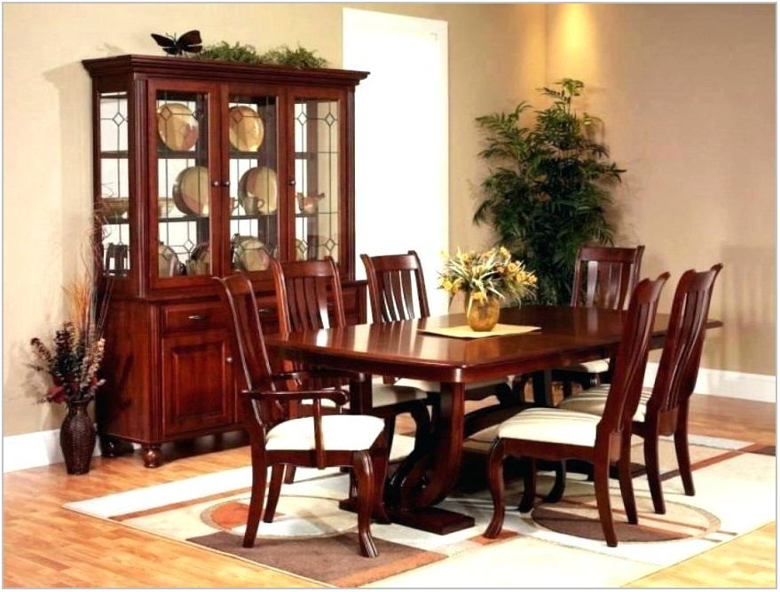 Cherry Dining Room Table Set
