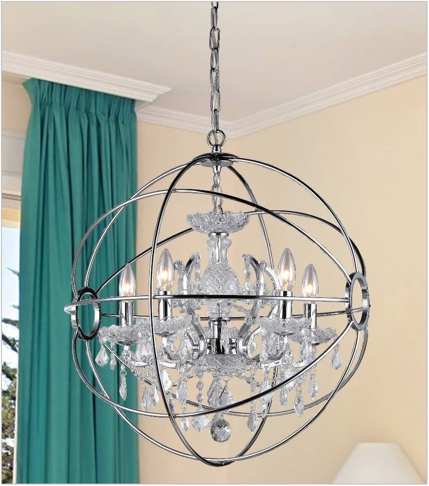 Chrome Dining Room Light