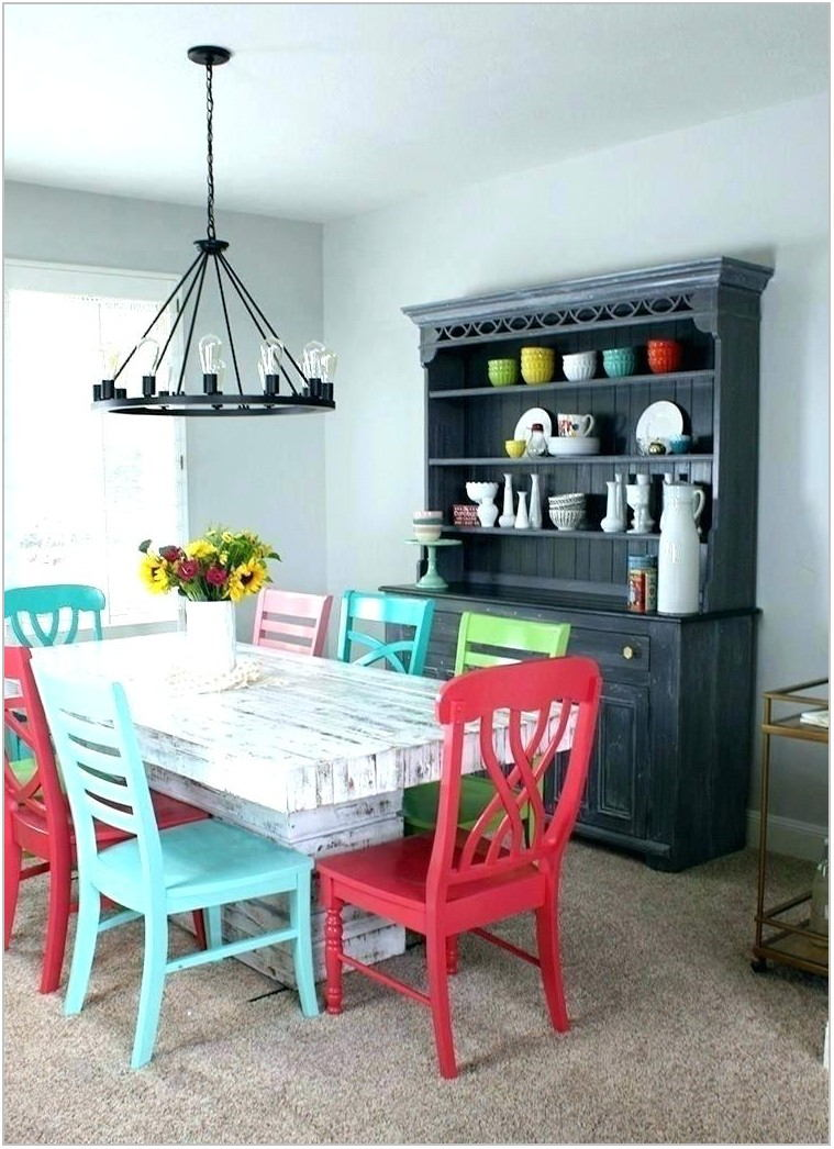 Colorful Dining Room Table