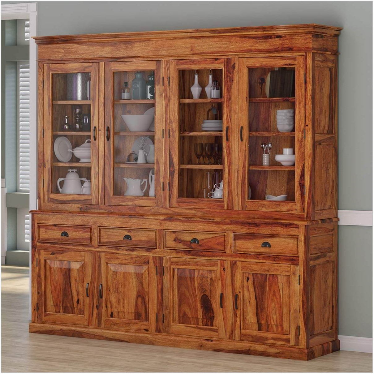 Contemporary Dining Room Hutch