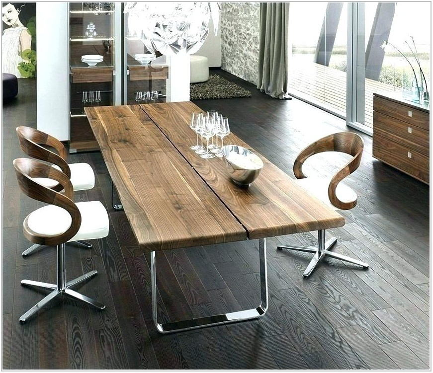 Contemporary Wood Dining Room Table