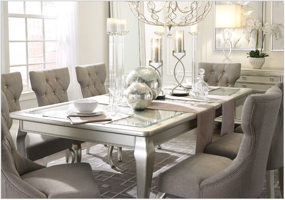 Coralayne Silver Dining Room Set