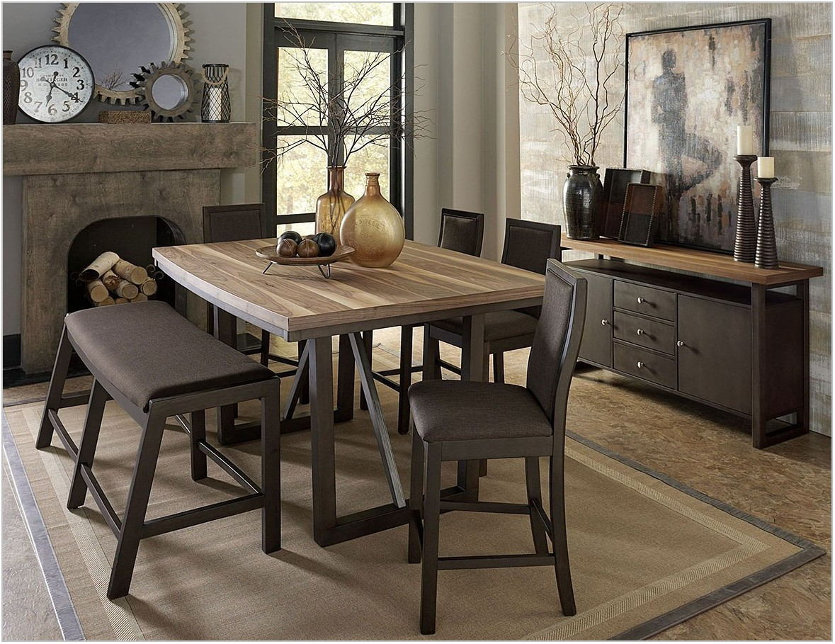 Counter Height Dining Room Bench