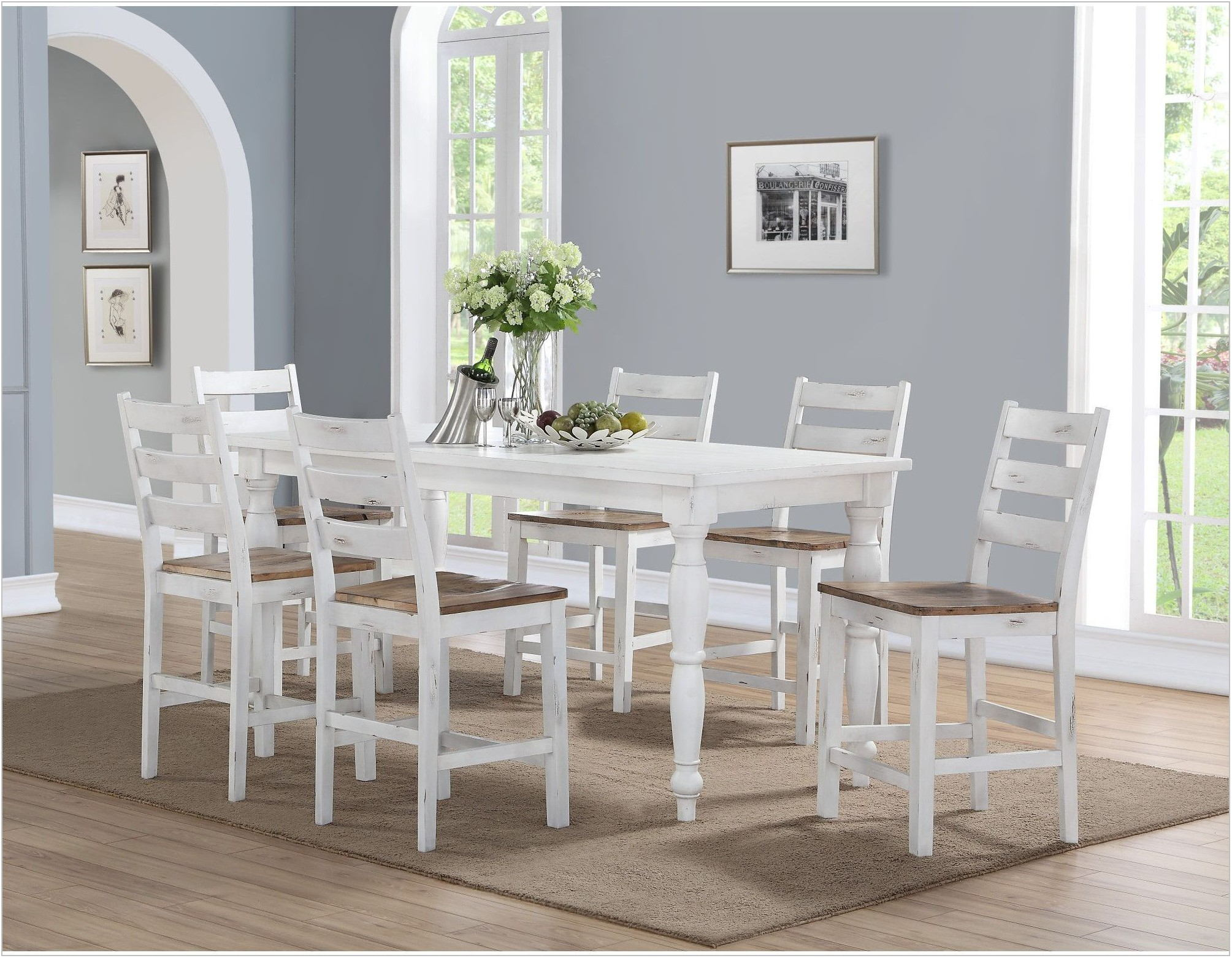 Country White Dining Room Set