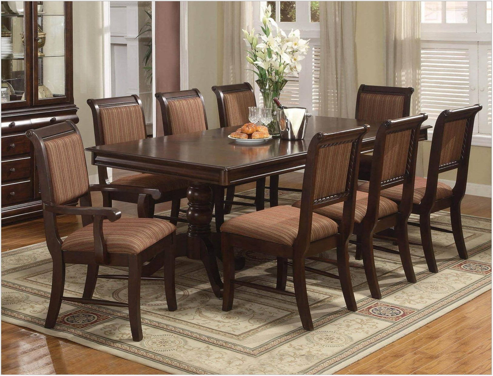 Crown Mark Merlot Dining Room Set
