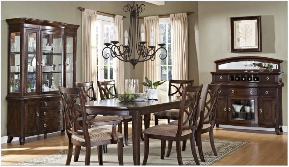 Dark Wood Formal Dining Room Sets