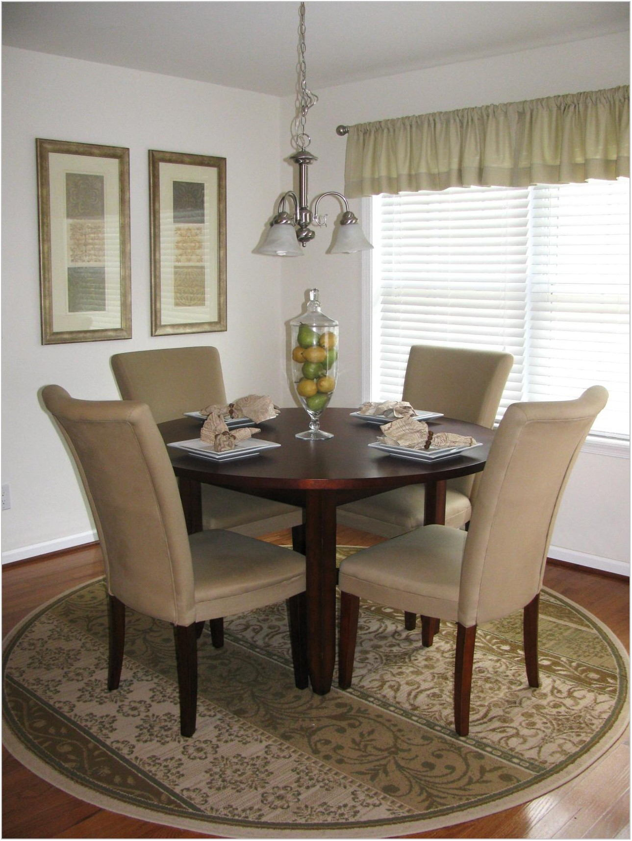 Dining Room Area Rug Placement