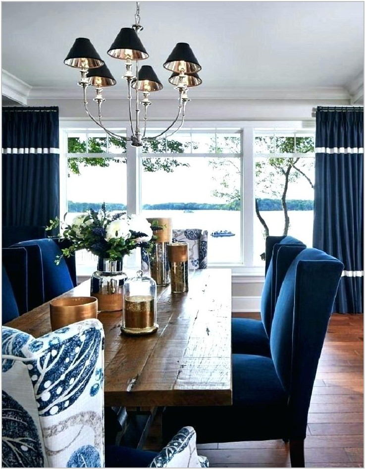 Dining Room Blue Chairs