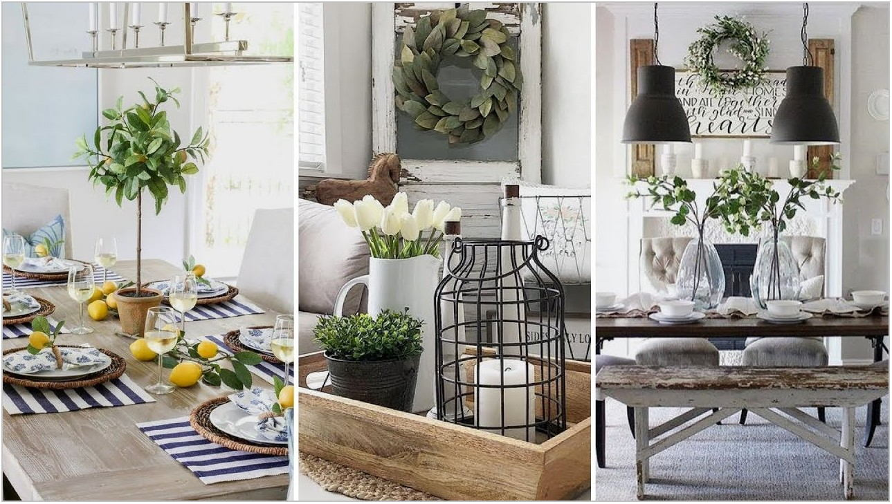 Dining Room Centerpieces Farmhouse