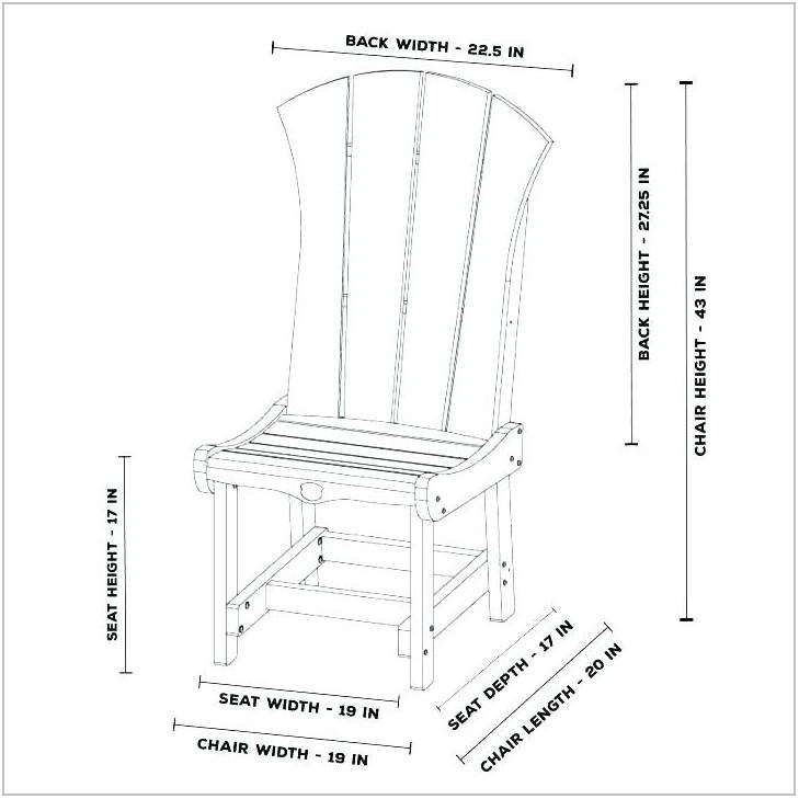 Dining Room Chair Size