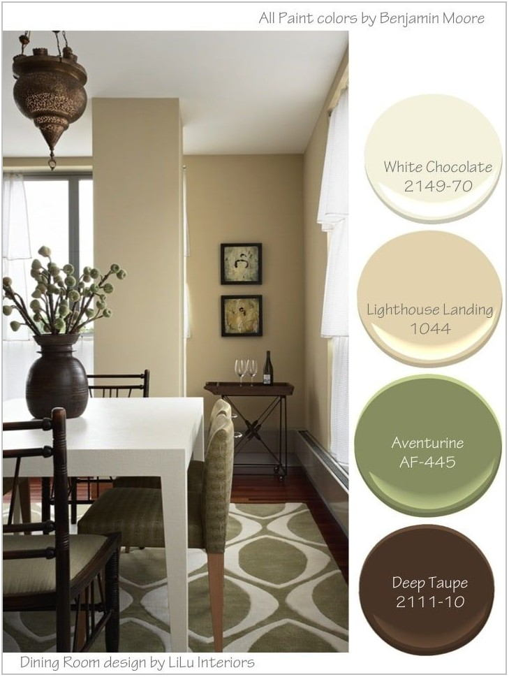 Dining Room Color Palettes