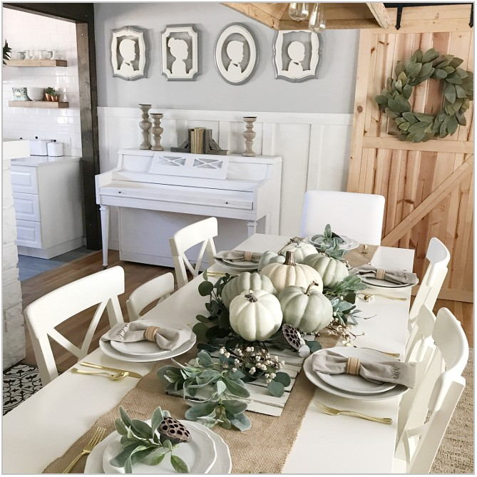 Dining Room Fall Decor