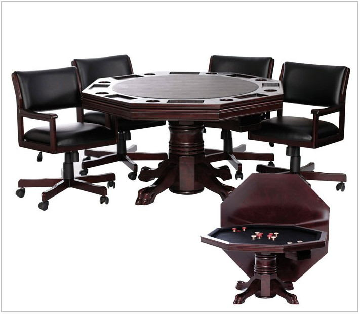 Dining Room Poker Table Combination