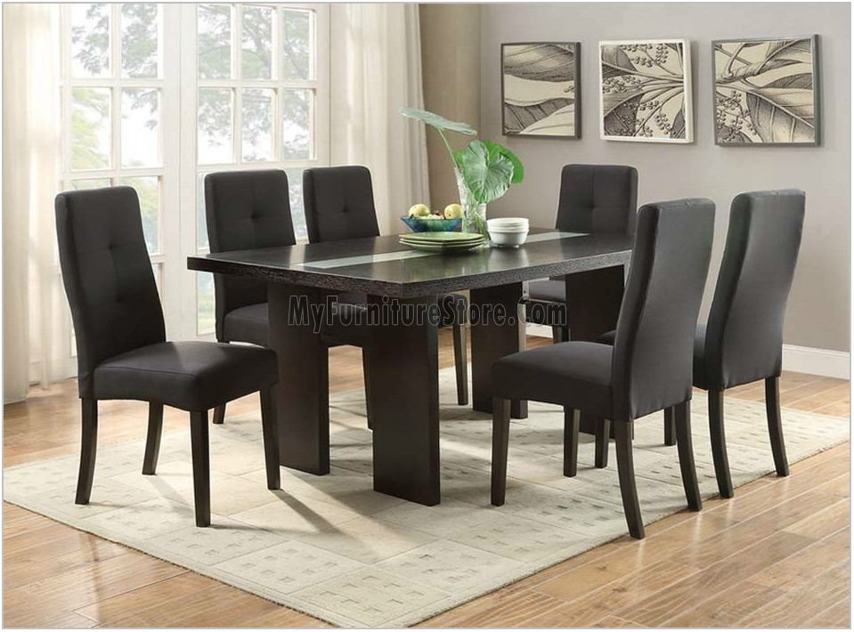Dining Room Set With Fabric Chairs