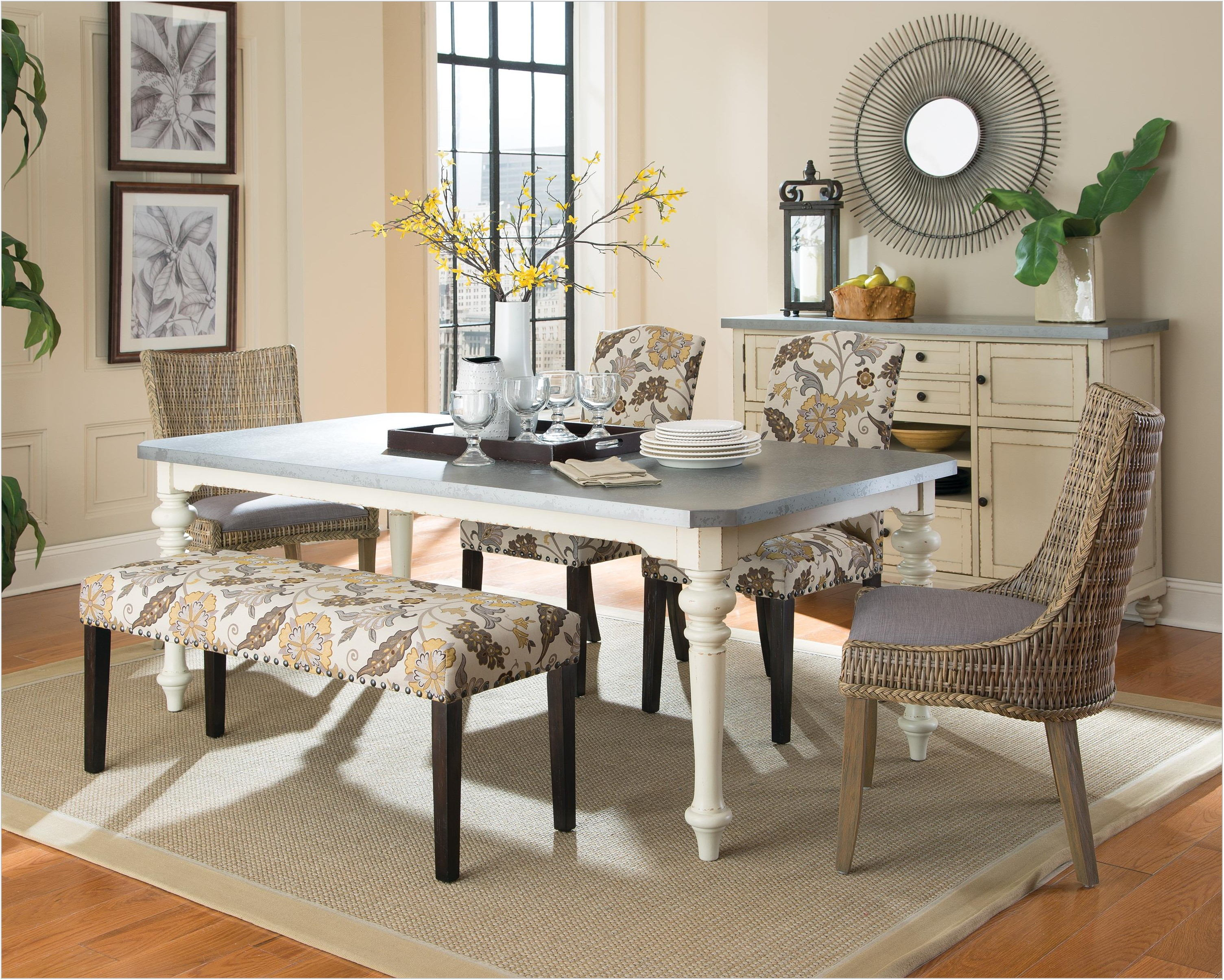 Dining Room Set With Nailhead Trim