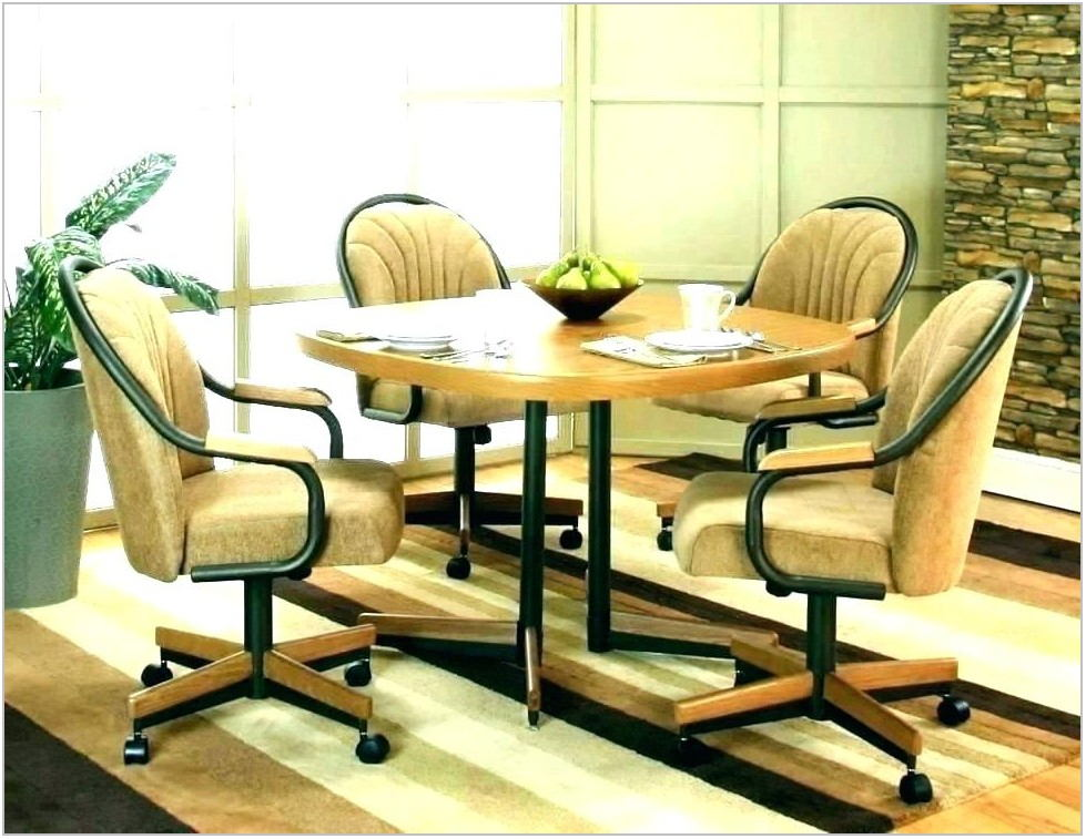 Dining Room Sets With Wheeled Chairs