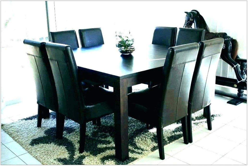 Dining Room Square Table 8 Chairs